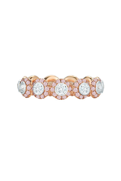 Kwiat - Silhouette Pink Gold & Platinum Diamond Ring