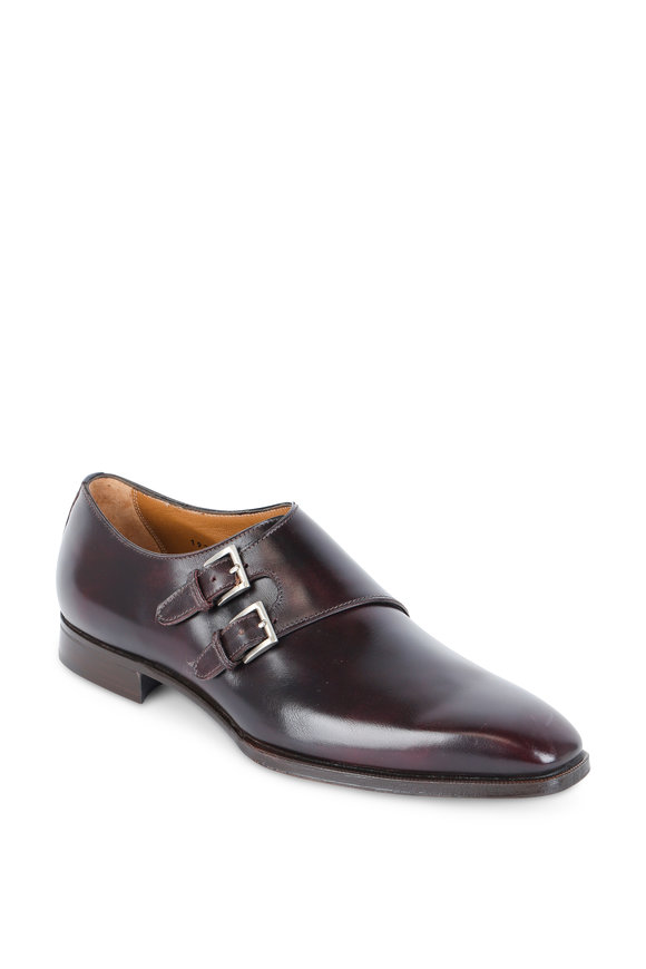 Gravati Medium Brown Leather Double Monk Strap Dress Shoe