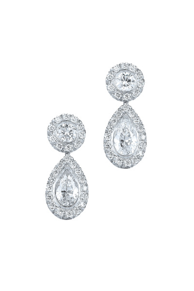 Kwiat - Silhouette Platinum Diamond Drop Earrings
