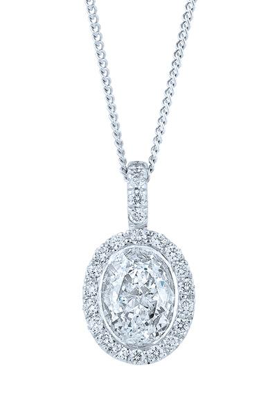Kwiat - Platinum White Diamond Silhoutte Pendant