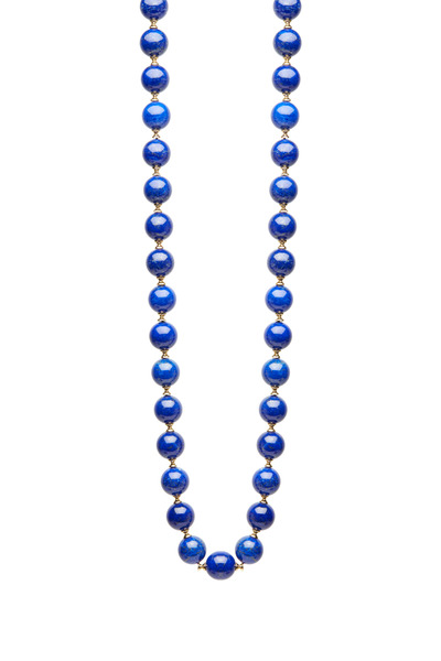 Syna - Yellow Gold Lapiz Lazuli Necklace