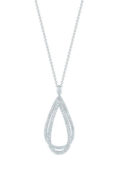 Kwiat - Echo White Gold Diamond Pendant