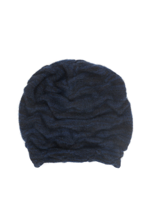 Lainey Keogh Black & Naval Jack Cashmere Two-Tone Hat