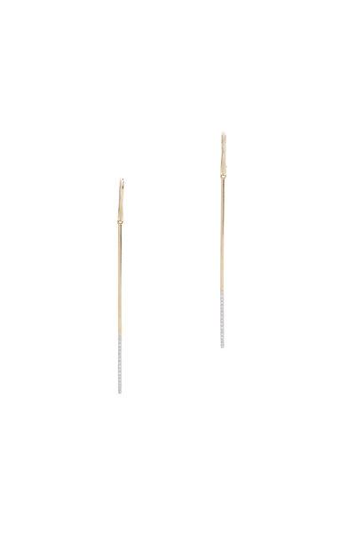 Kai Linz - Rose Gold Pavé Stick Earrings