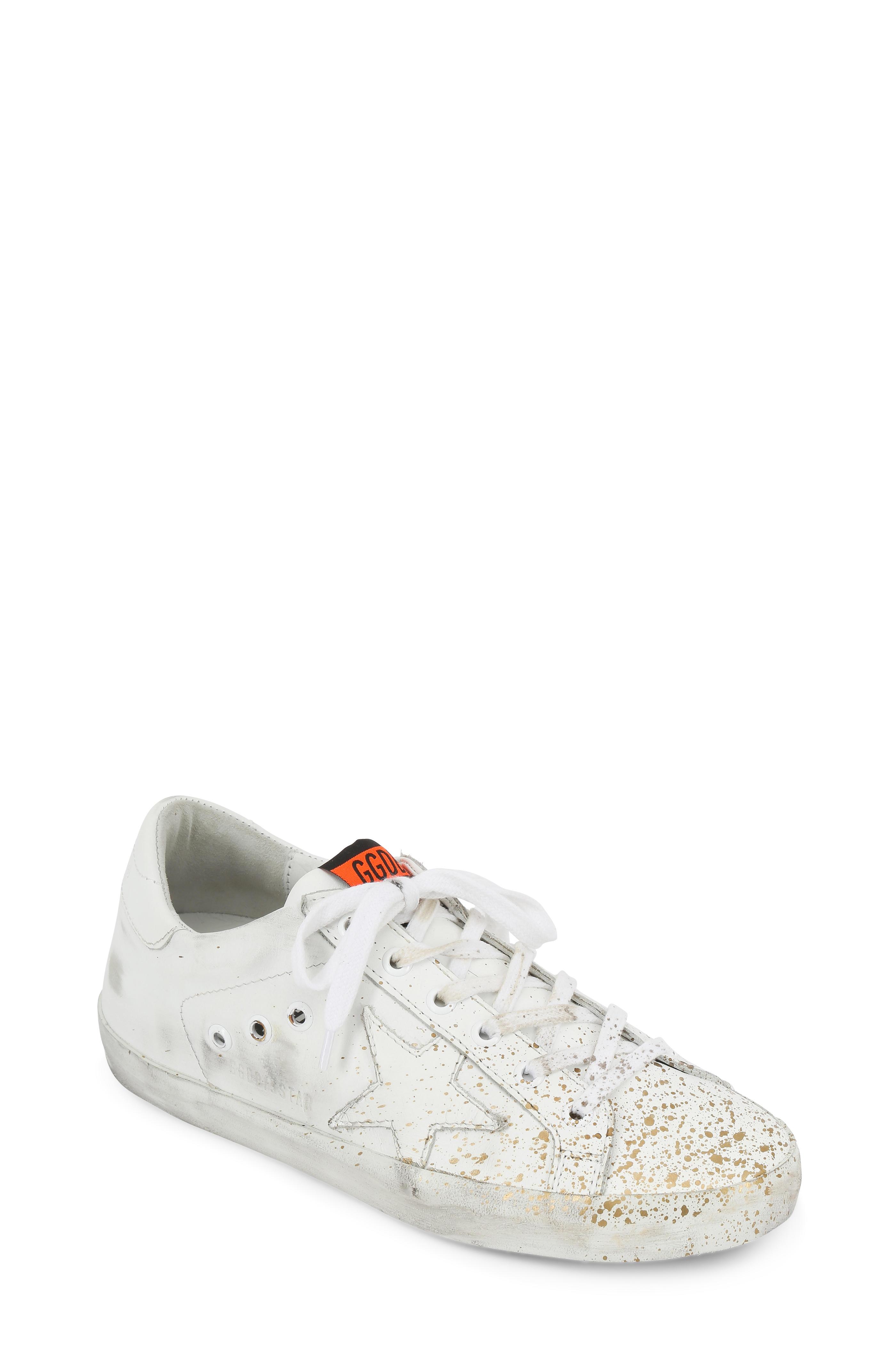 364fa983ef1b9 Golden Goose - Women s Superstar White   Gold Splatter Sneaker ...