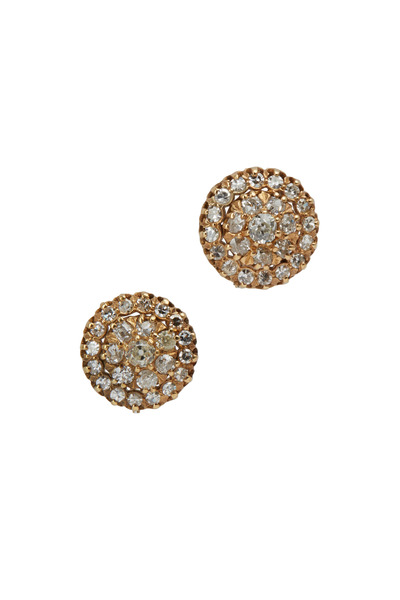 Fred Leighton - Antique Old Mine Diamond Cluster Earrings