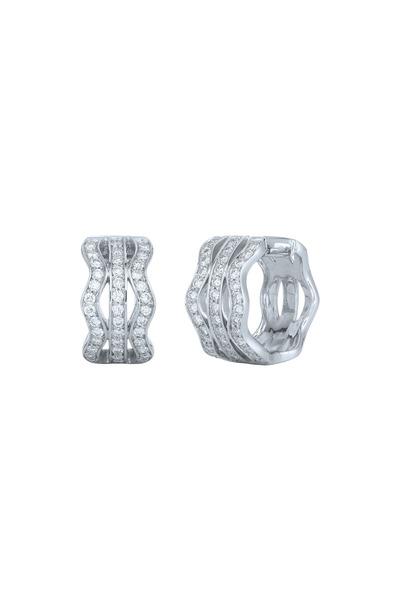 Kwiat - Wave White Gold Diamond Earrings
