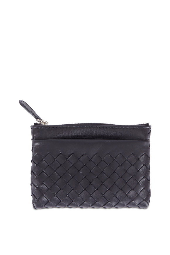 Bottega Veneta Black Intrecciato Leather Card Case