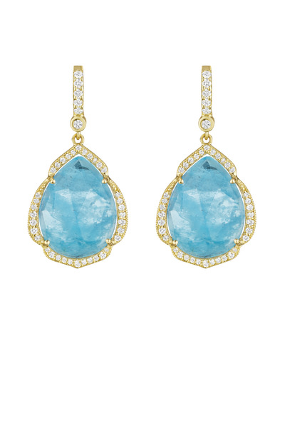 Penny Preville - Pearshape Aquamarine Gemstone Dangle Earrings