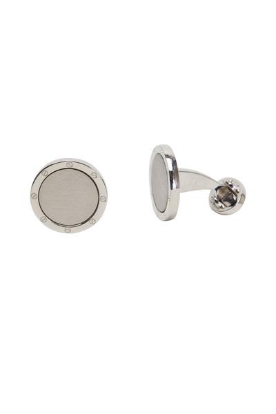 Jan Leslie - Sterling Silver Round Screw Cuff Links