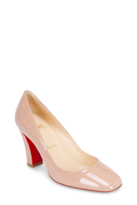 Christian Louboutin Viva Nude Patent Leather Pump, 85mm