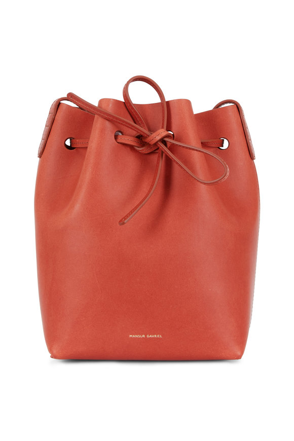 Mansur Gavriel Brandy Leather Mini Bucket Bag