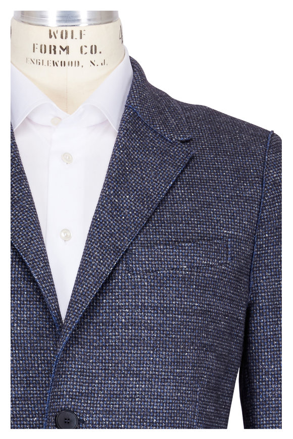 Harris Wharf Blue & Grey Houndstooth Jacket