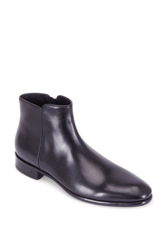 John Varvatos Eldridge Black Leather Boot