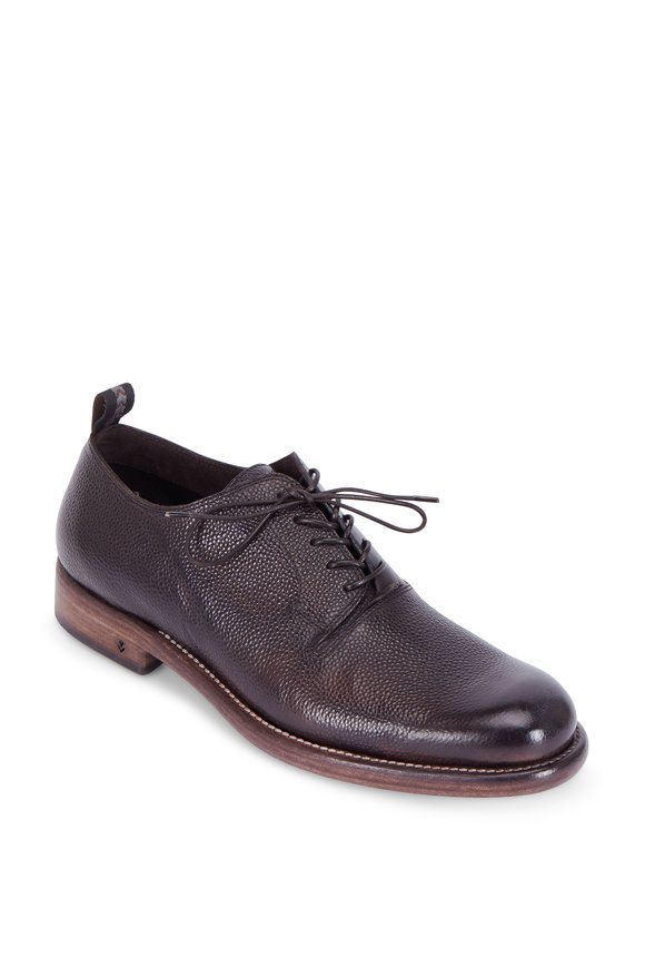 John Varvatos Fulton Brown Embossed Leather Oxford