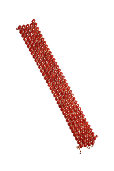 Paolo Costagli - Rose Gold Red Coral Bracelet