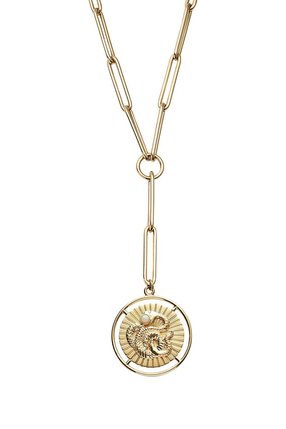 Foundrae 18K Yellow Gold Wholeness Pendant Necklace