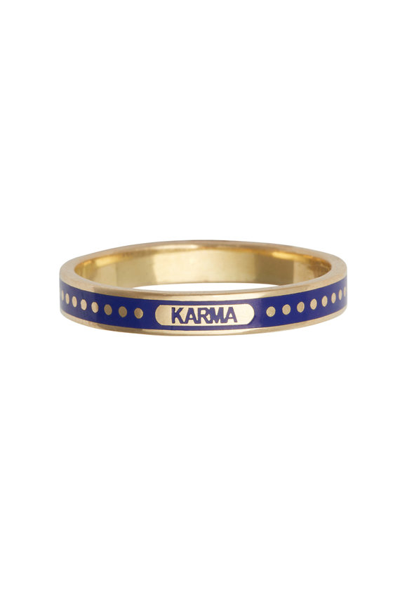 Foundrae 18K Yellow Gold Karma Band