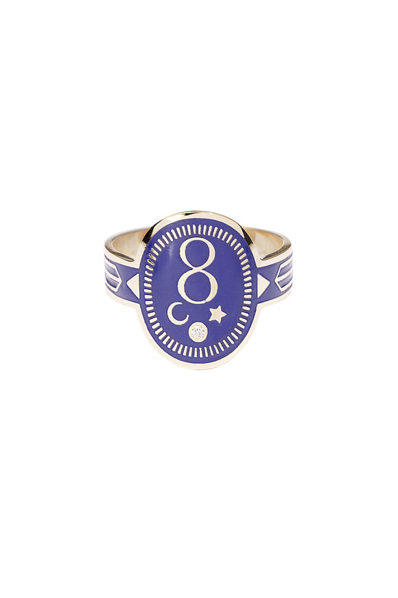 Foundrae 18K Yellow Gold Champleve Ring