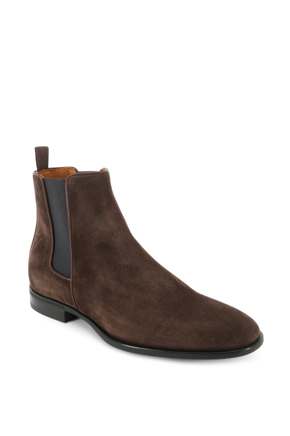 Aquatalia Adrian Brown Weatherproof Suede Chelsea Boot