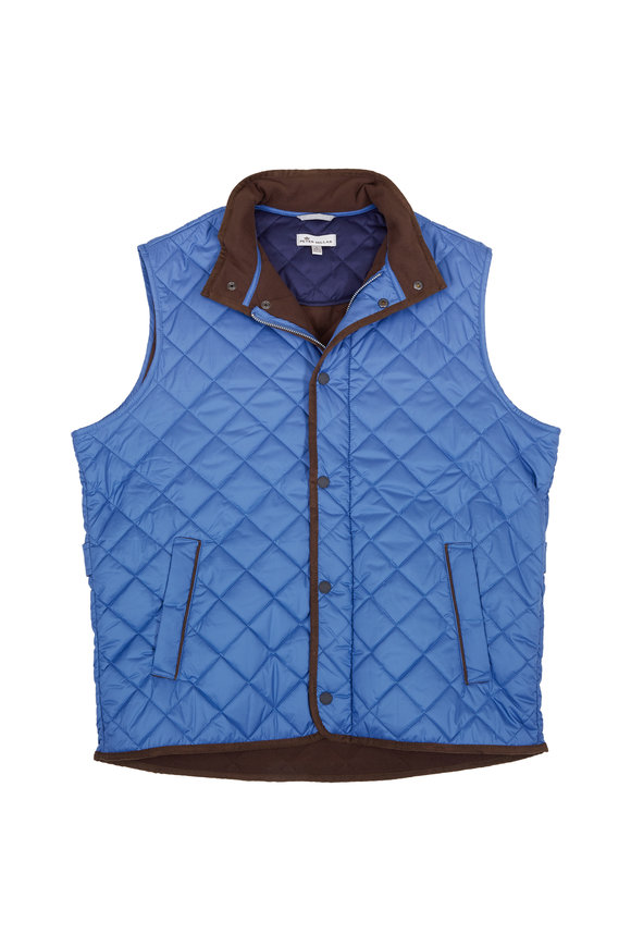 Peter Millar Moon Blue Quilted Vest