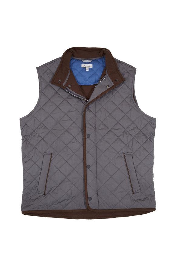 Peter Millar Glacier Gray Quilted Vest