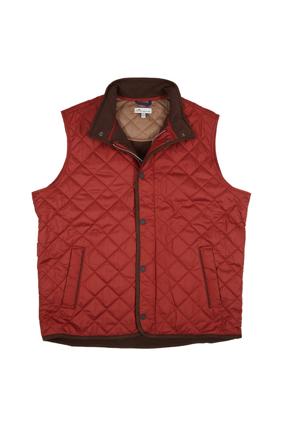 Peter Millar Sierra Red Quilted Vest