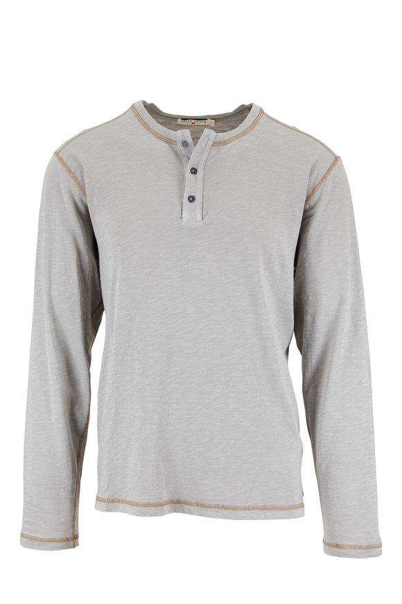 Agave Light Gray Knit Henley