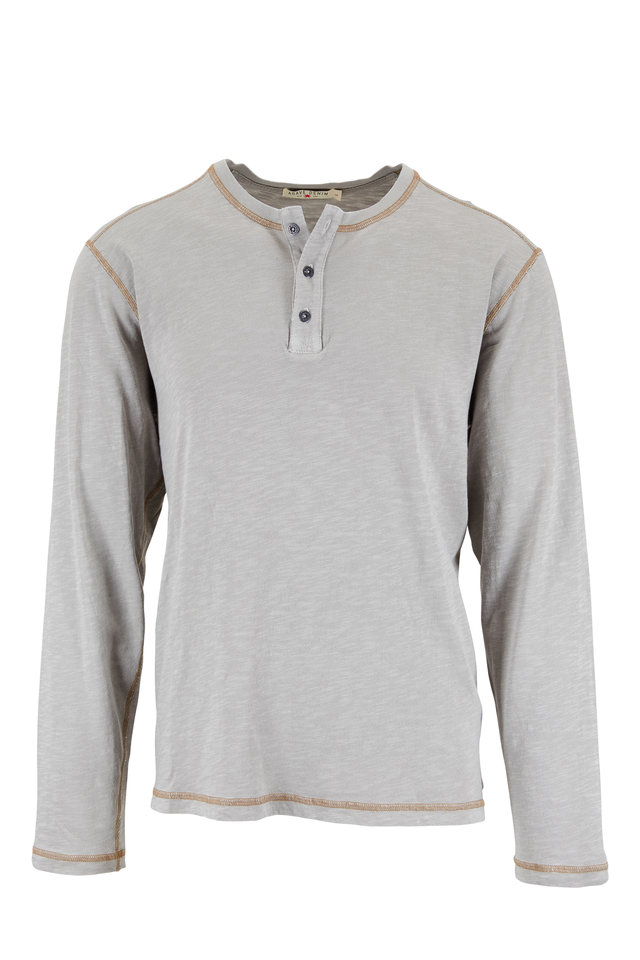 Light Gray Knit Henley