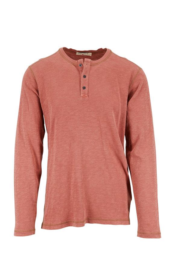 Agave Orange Knit Henley