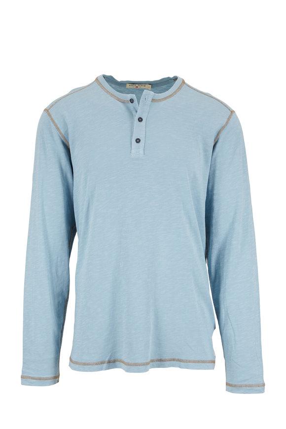 Agave Light Blue Knit Henley