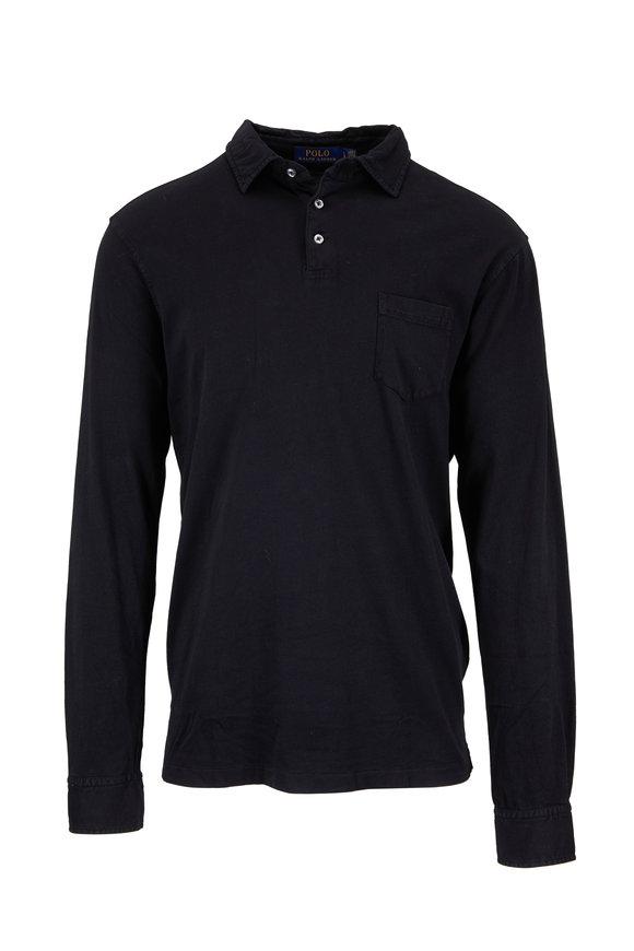 Polo Ralph Lauren Black Long Sleeve Pocket Polo