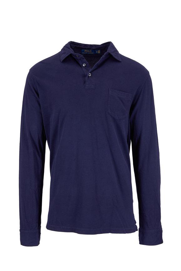 Polo Ralph Lauren Navy Long Sleeve Pocket Polo