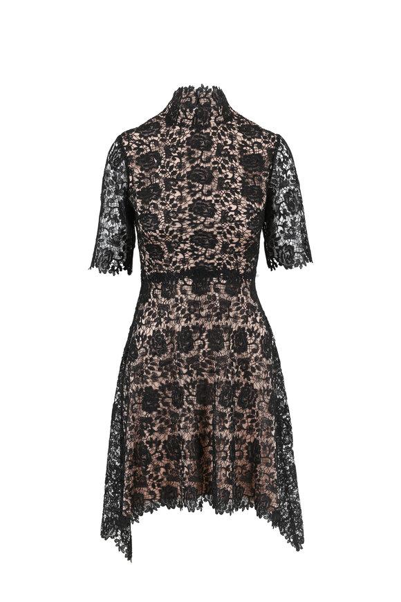 Catherine Deane Jeanne Black Lace Elbow Sleeve Dress
