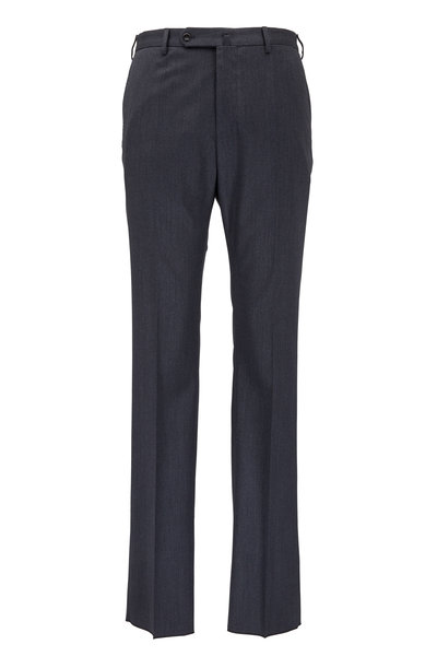 Incotex - Benson Charcoal Gray Stretch Wool Dress Trousers