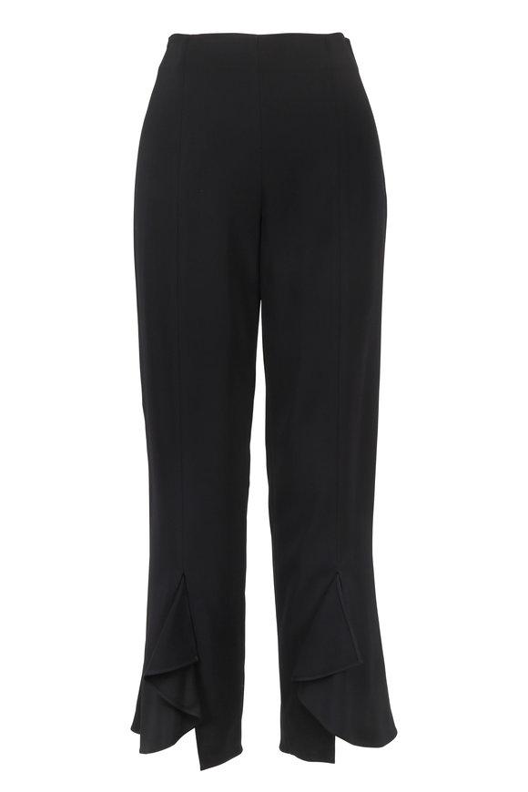 Cushnie et Ochs Black Slit Front Cropped Pant