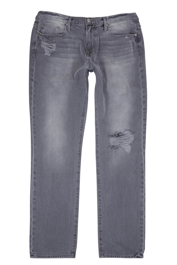 Frame L'Homme Distressed Slim Straight Jean