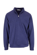 Peter Millar - Navy Blue Interlock Quarter-Zip Pullover