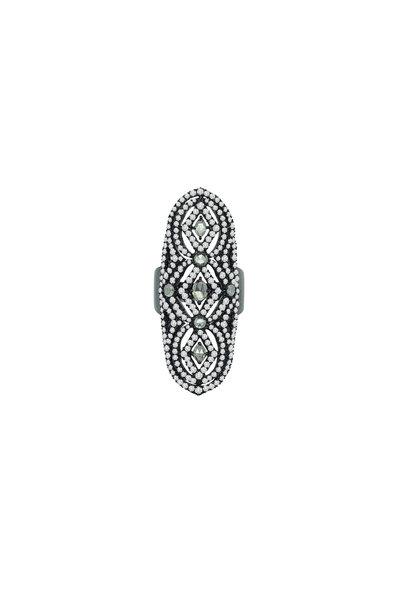 Sutra - 18K Blackened White Gold Diamond Ring