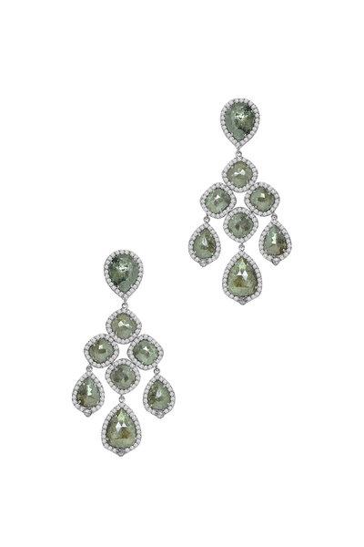 Sutra - Green Chandelier Earring