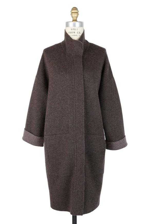 Akris Taupe Cashmere Sweater Cardigan