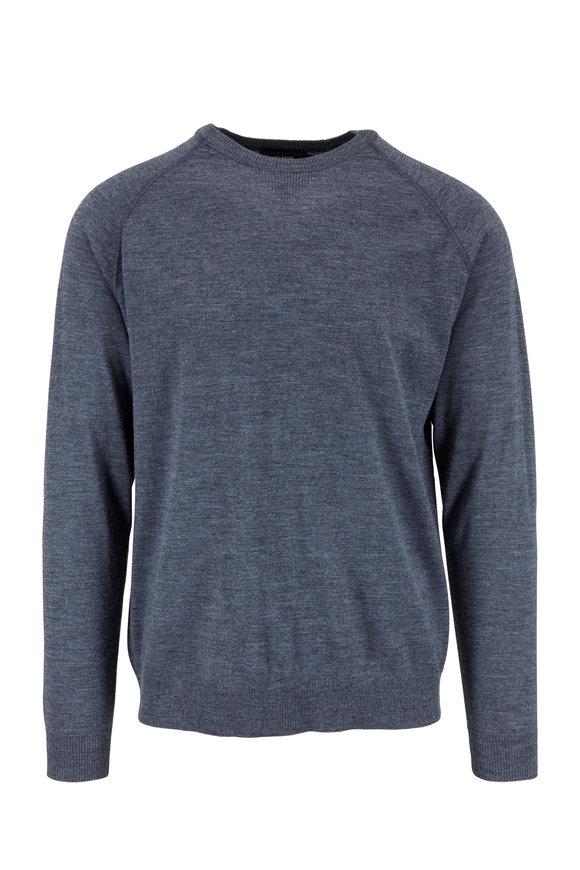 Kinross Graphite Merino Wool Crewneck Sweater