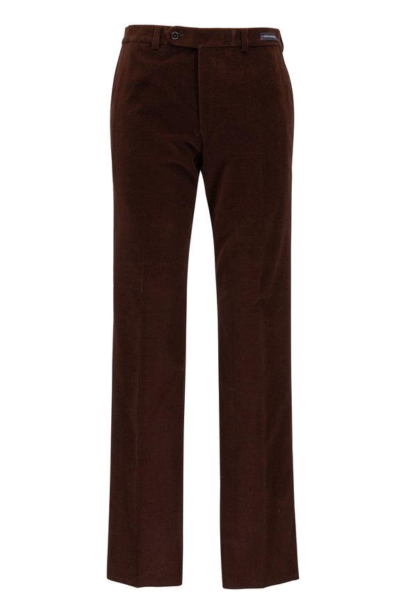 Riviera Slacks Kale Brown Corduroy Pant