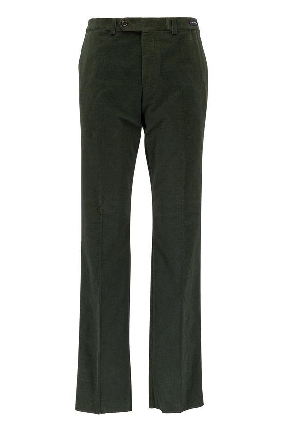 Riviera Slacks Kale Olive Green Corduroy Pant
