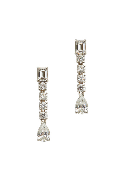 Louis Newman - White Diamond Drop Earrings