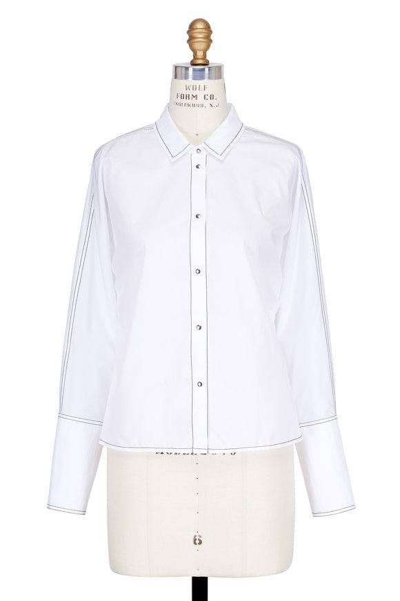Colovos White Cotton Dolman Sleeve Blouse