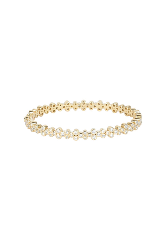 Temple St. Clair 18K Yellow Gold Diamond Eternity Trio Bracelet