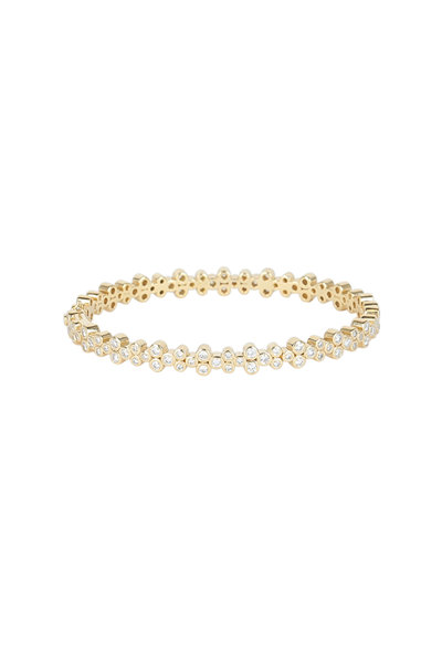 Temple St. Clair - 18K Yellow Gold Diamond Eternity Trio Bracelet