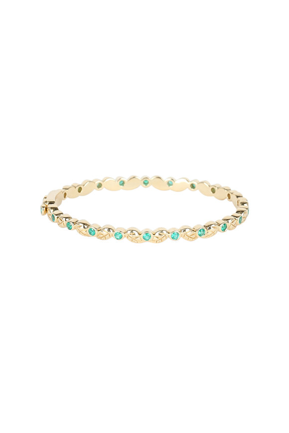 Temple St. Clair 18K Yellow Gold Emerald Arcadia Bracelet