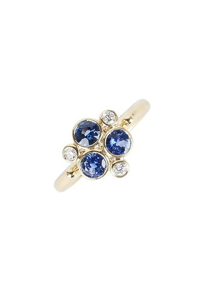 Temple St. Clair - 18K Yellow Gold Sapphire & Diamond Trio Ring